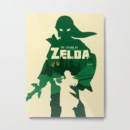 The legend of Zelda minimalist art Metal Print