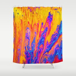 Over Active Brain Activity Fluid Abstract 60 Shower Curtain