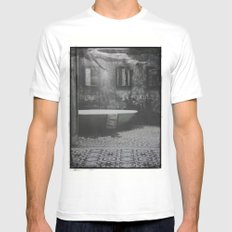 The floating woman Mens Fitted Tee MEDIUM White