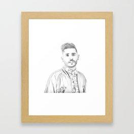 Jon Bellion Illustration Framed Art Print
