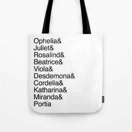 Shakespeare's Heroines / Women of Shakespeare Tote Bag