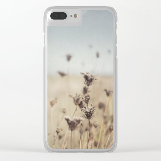 Fall Field Clear iPhone Case