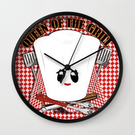 Queen of the Grill Wall Clock