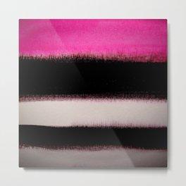pink&black Metal Print