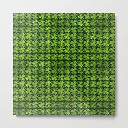 Irish Shamrock -Clover Green Glitter pattern Metal Print