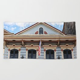 New Orleans American Creole Cottage Beach Towel