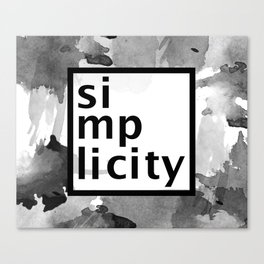 Simplicity Typography Canvas Print