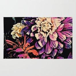 Autumn Dahlia Floral Bouquet Rug