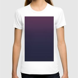 Deep Wine to Darkest Blue Ombre T-shirt