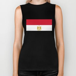 National flag of Egypt, Authentic version in scale and color (High Quality) Biker Tank