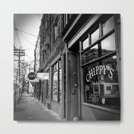 Storefronts Along Queen Street West in Toronto Metal Print