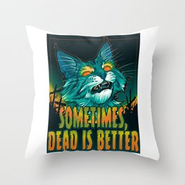 scott robertson orange sometimes dead is better t-shirt tank top   sticker  print art Throw Pillow