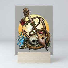 Anchored Mini Art Print