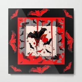 BLACK BATS & HALLOWEEN BLOODY ART DESIGNED Metal Print