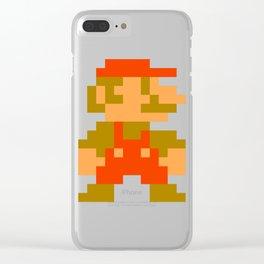 Pixel Mario Clear iPhone Case