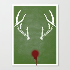 Rudolph the Bloody Nosed Reindeer Canvas Print