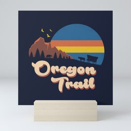 Retro Oregon Trail Mini Art Print