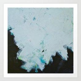Skyline: Acrylic semi-abstract landscape, trees against the sky. Art Print