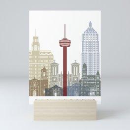 San Antonio skyline poster Mini Art Print