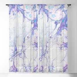 Jewel Rock #abstract #pattern #marble Sheer Curtain