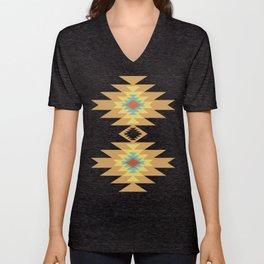Southwest Santa Fe — Geometric Tribal Indian Abstract Pattern Unisex V-Neck