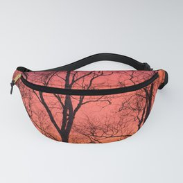 Tree Silhouttes Against The Sunset Sky #decor #society6 #homedecor Fanny Pack