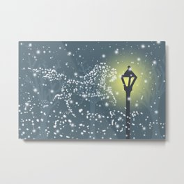 Pictures in the Snow Metal Print