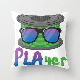 3D Printing PLAyer Funny 3D Print cool Sunglasses Fan Gift product Throw Pillow