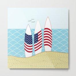 Surfing USA Metal Print