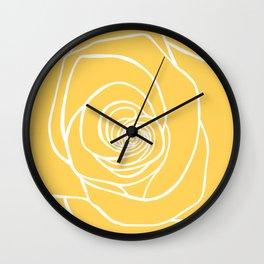 Sunshine Yellow Rose Drawing Wall Clock