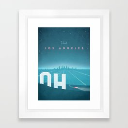 Vintage Los Angeles Travel Poster Framed Art Print