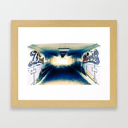 Newcastle, NSW, Australia Beach Access Framed Art Print