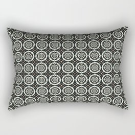 Black and White Marble Pattern Rectangular Pillow