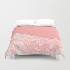 Lines in the mountains - pink Duvet Cover