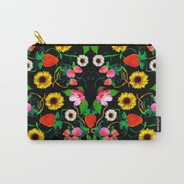 Flowers Pattern Carry-All Pouch