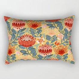 Protea Chintz - Mustard Rectangular Pillow