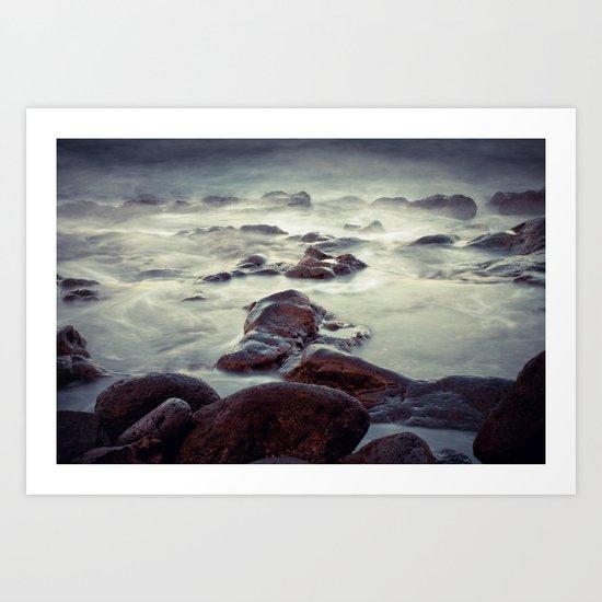Rocks - Stones - Water Art Print