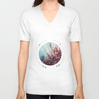 cherry blossoms V-neck T-shirts featuring cherry blossoms by fluidgold