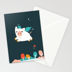 When Pigs Fly Stationery Cards