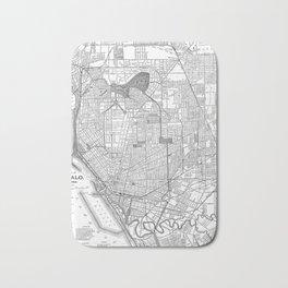 Vintage Map of Buffalo New York (1891) BW Bath Mat