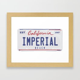 Imperial Beach. Framed Art Print