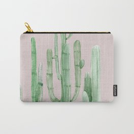 Three Amigos Green + Pink Carry-All Pouch