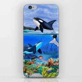 THE ORCA FAMILY iPhone Skin