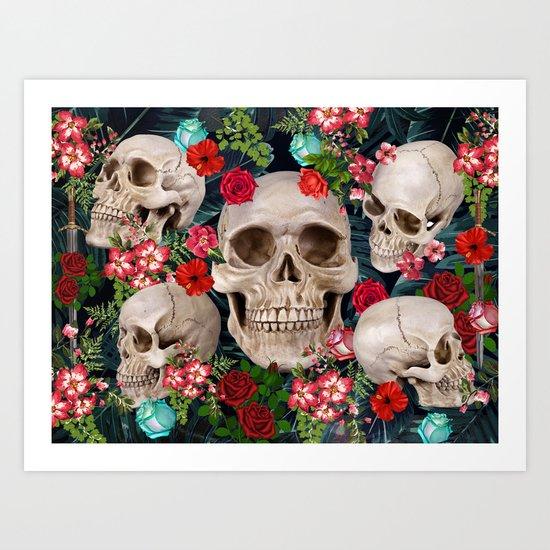 tropical scary  Art Print
