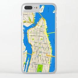 Manhattan Map Design Clear iPhone Case