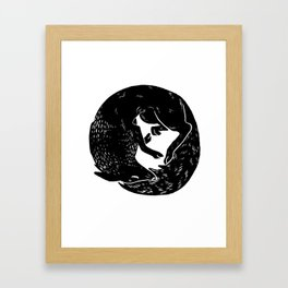 black and white thoughts Framed Art Print