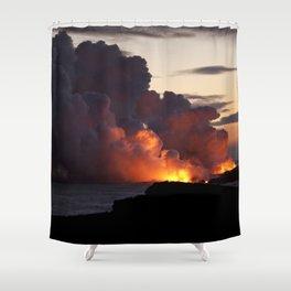 Lava Vaporizes Ocean Shower Curtain