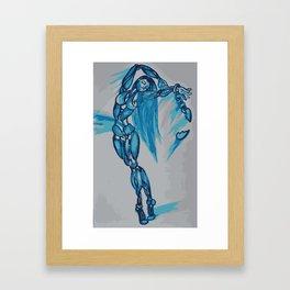 Blue Dancer Framed Art Print
