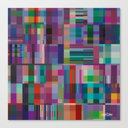 V&A colour blocks Canvas Print