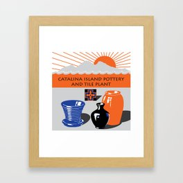 Catalina Island Pottery and Tile Ad #2 Framed Art Print